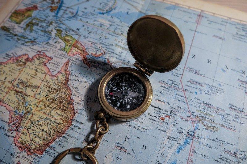 kompaskoers en grondkoers vaarbewijs