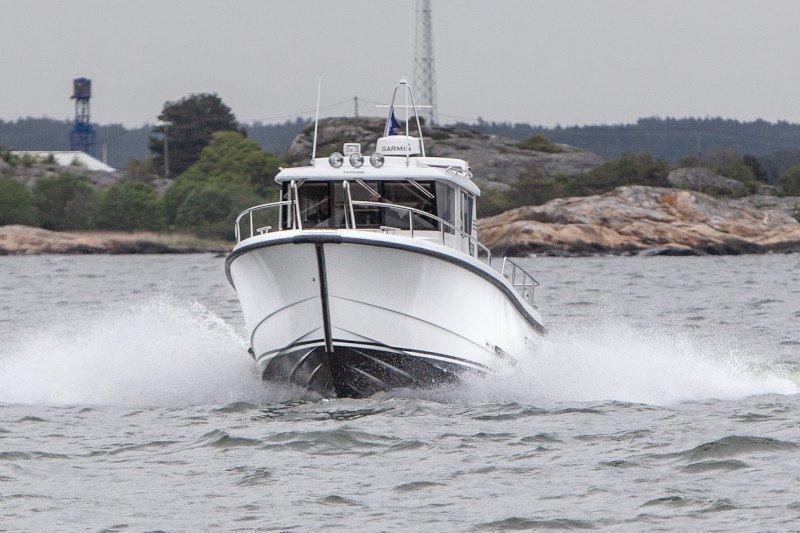 spantvorm van een motorboot