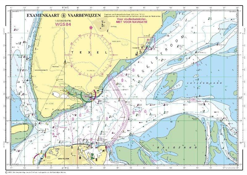 waterkaart zeekaart vaarbewijs 2 examen cbr