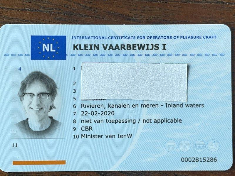 Vaarbewijs 1 pasje